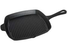 Mate negro hierro fundido esmaltado placa de la plancha