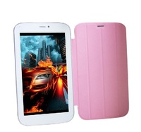 Cute 7 inch dual core andriod MID with 2G phone calling with fashion leather cover