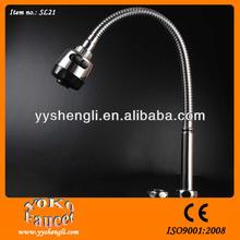 Single handle chrome plated flexible sink hose /tap parts