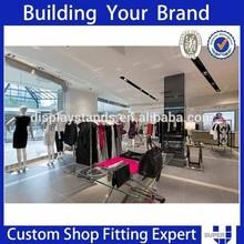 Customized 2014 fashion clothes shop interior design idea