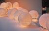white cotton ball Party light / handmade cotton ball light / cotton ball wedding light