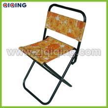 Steel folding fishing chair/camping stool/metal chair HQ-6004R