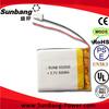 deep cycle li-polymer battery 523040 600mah 3.7v for toys/ mp3/mp4/bulooth/gps