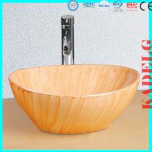 Top quality sanitary ware basin bathroom sink(Red wood grain)
