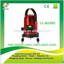 TWO GREEN LIGHT LINE LASER LEVEL