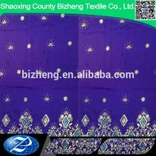 African george fabric korean velvet ground with Hot Fix Rhinestone