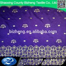 burnout silk velvet fabric from india slubbed ground with Hot Fix Rhinestone