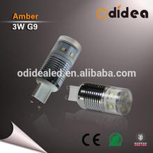 3w super bright led g9 bulb aluminum heatsink case