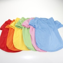 Hot sale dog plain t-shirts for printing, pet prompt delivery clothes from China