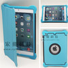 Folding stand 3 in 1 silicone PC PU leather case cover for apple ipad mini 1/2