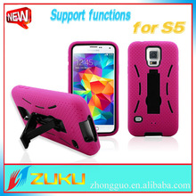 Factory price Dirt-proof Hybrid stand mobile phone case for samsung S5