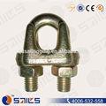 Galvanizado un tipo de sujetadores cuerda de alambre clips, cuerda de alambre clip de la abrazadera