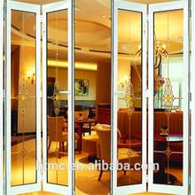 Aluminum folding patio doors,thermal break & double glazing door