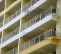 aseembly en polvo de revestimiento de acero galvanizado balcón barandilla