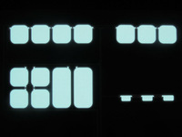 0.1mm electroluminescence paper sheet for instrument backlight