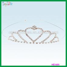China Wholesale Costume Cheap Hen Night Party Bride To Be Metal Diamante Bridal Wedding Tiara