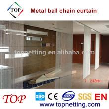 Hanging silver metal ball chain curtain