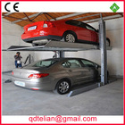 auto double parking car system equipment automated hydraulic 2 level office building parking storage