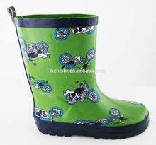 camo deer head children rubber rain boots