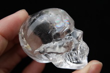 Hand Carved Clear Quartz Crystal Skull For Sale / Beautiful Crystal Skull Wholesale