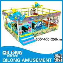 Children welcome body-building trampoline , ball pit , indoor playground equipment QL13-109A