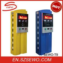 SEWO Patent Car Entrance / Exit management parking system solution. Carparking system complete configuration