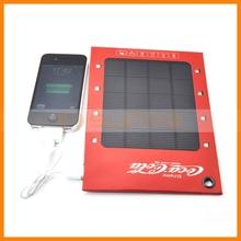 3W Solar Panel 1000mah Novel Gift Carabiner Clip External Battery for iPhone 5C