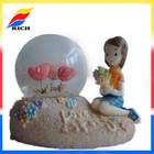custom polyresin souvenirs snowball