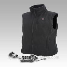 Outdoor Windproof Polar Fleece Mens Winter Vest Electric Heated Vest
