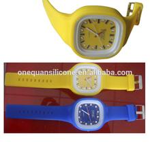 top quality Luxurious diamond jelly watch custom logo LED watch