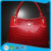 Leather Scallop Edge Handbag