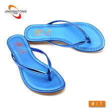 Bright sky blue nude chinese women flip flops