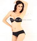 girls fancy underwear double push up silicone free bra,nude/black lady sexy strapless bra tube top