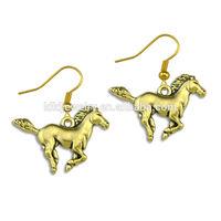 ladies earrings designs pictures custom made metal antique bronze horse women eaarings