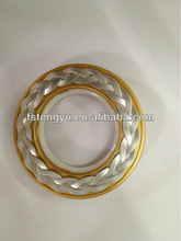 Plastic round curtain eyelet for curtain rod
