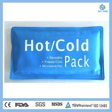Reusable custom thermal gel cold hot pack