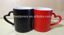 Hot Sale Coated Magic Couple Mug/Lovers Mug/Coated Mug