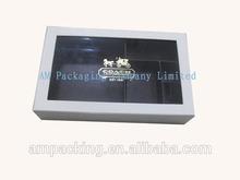 Customized handmade cardboard luxury belt box with clear window