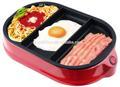 3 segmentos mini grill para churrasco no café da manhã