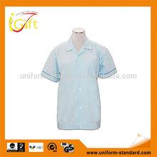 100% cotton working uniform blue lady nurses uniforms