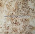 natural de rumanía mappa de madera del burl de la chapa