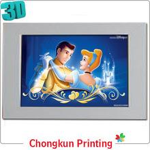 3D lenticular impressão 3D dos desenhos animados imagem para o presente