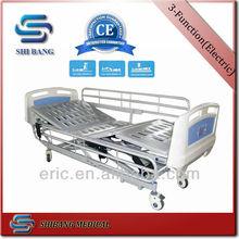 2014年ce、 iso!! 金属は、 サイドレールsj-me1103機能電気標準ベッドのサイズ