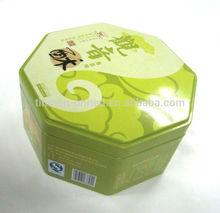 octangular cookies tin box