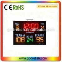 electronic led portable basketball scoreboard