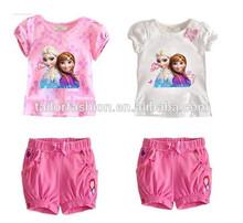wholesale frozen clothes girl children frozen clothing kids clothes frozen