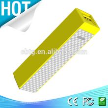 novel design lipstick solar mobile charger power bank