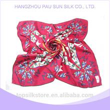 Hangzhou digital print 100% silk satin spring latest fashion girl hot scarf arab hijab woman