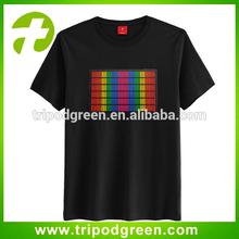 Europe size led illuminated t shirts,led wire t-shirt
