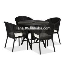 Rattan aluminum bistro table and chair garden set garden furniture